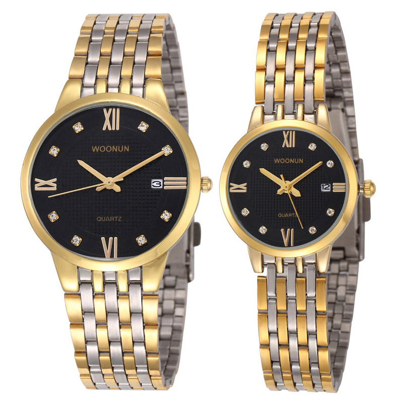 ФОТО Luxury Brand Watch for Women Man Quartz Wrist Watches Stainless Steel Fine Couple Lovers' Casual Watches Couple Watches relogio