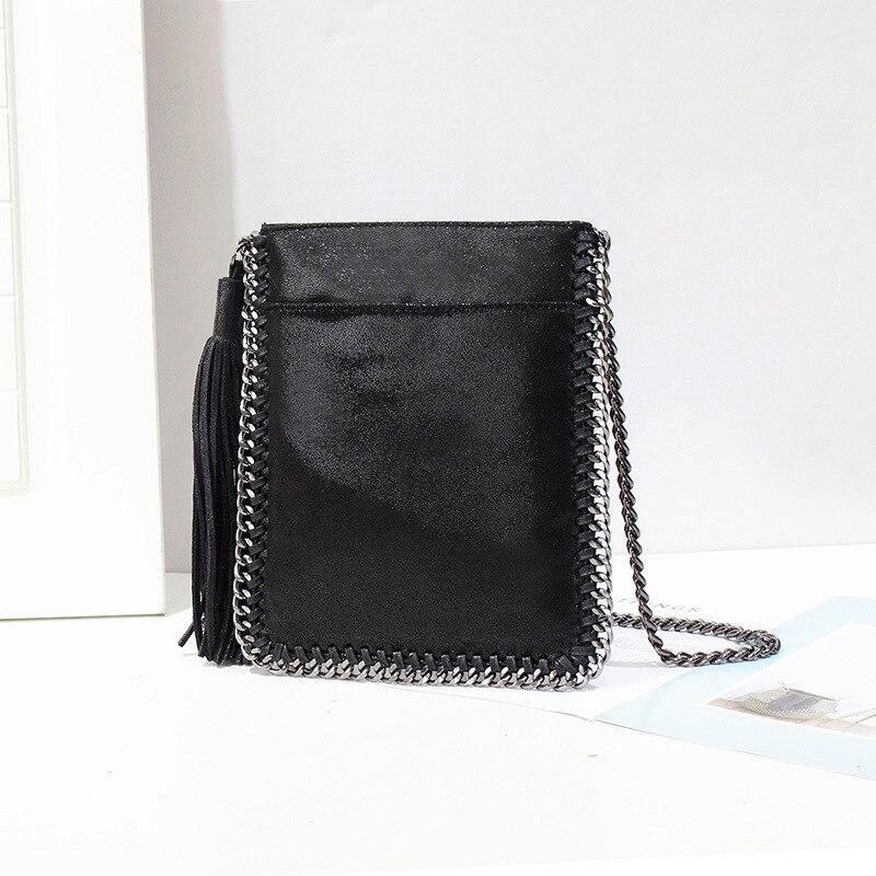 2018 new casual tassel woman bag single shoulder slanting chain bag 82018 new casual tassel woman bag single shoulder slanting chain bag 8