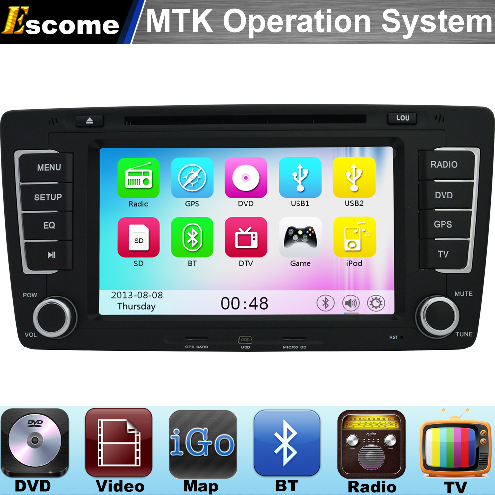 Mtk3360 car dvd player for vw skoda octavia 2012 2013 yeti with 800mhz cpu bluetooth radio