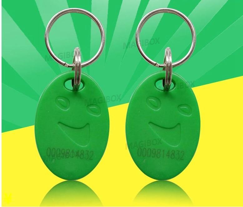 Smile 25KHz RFID Green Proximity ID Cards Token Tag Key Keyfobs