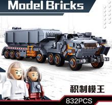 Sluban 0787 832pcs Wandering Earth Transport Carrier Vehicle Building Blocks Compatible Legoings Technic Toys Kids For Children