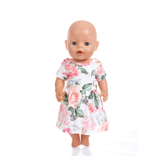Doll Clothes Fit 18 inch 40-43cm Born New Baby Fruit sunflower rose flower skirt accessories For Gift