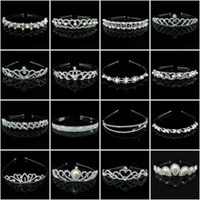 Women Fashion Crystal Queen Crown Hair Jewelry Wedding Rhinestone Headband