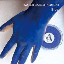 FPB 30 г/шт. на водной основе синяя краска для лица и тела Пигмент Макияж в Маскарад партии Необычные платья Красота Макияж инструмент