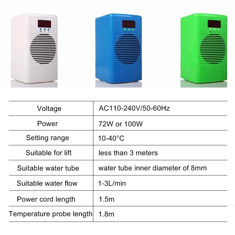 110 240 в охладитель аквариума или обогреватель охладитель с датчиком температуры воды для ниже 20L 30L аквариум морской коралловый риф креветка ... - 3