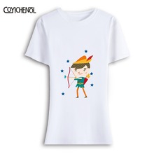 Cartoon Prince and prince kawaii clothes T-shirt summer short Sleeve Model O-neck Funny Design Letter Print t shirt for wome