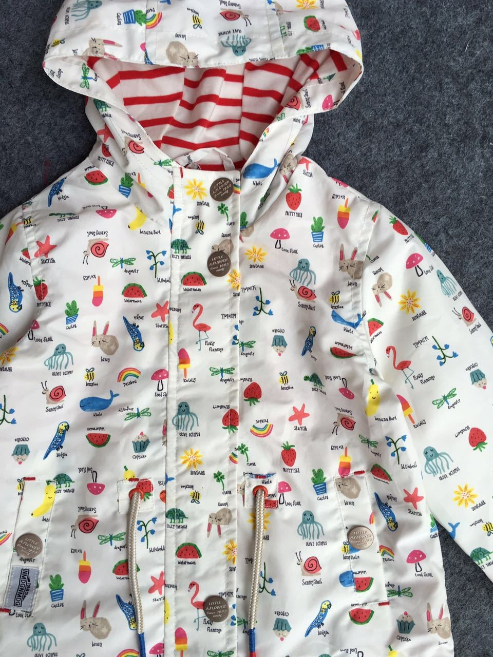Kids Cartoon Fruit Print Jackets (2)
