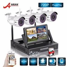 Vigilancia CCTV 4CH P2P NVR 7 Pulgadas LCD Monitor de 36 IR Impermeable cámara de Red 720 P Sistema de Seguridad IP Cámara Inalámbrica WIFI Kits