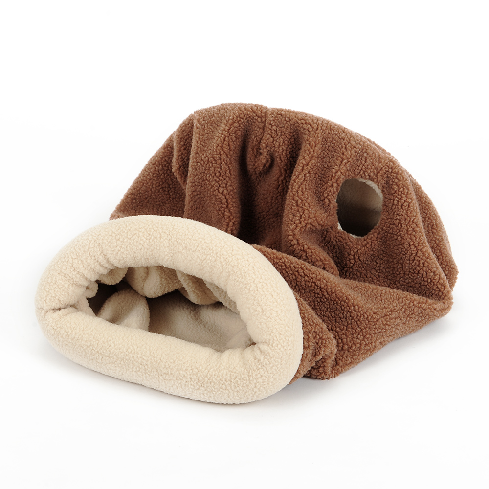 buy pet cat self warming soft sleeping bag kitten cozy cave snuggle sack bed kitty mat cushion cuddle pouch for burrower pets from reliable - Cozy Cave Dog Bed
