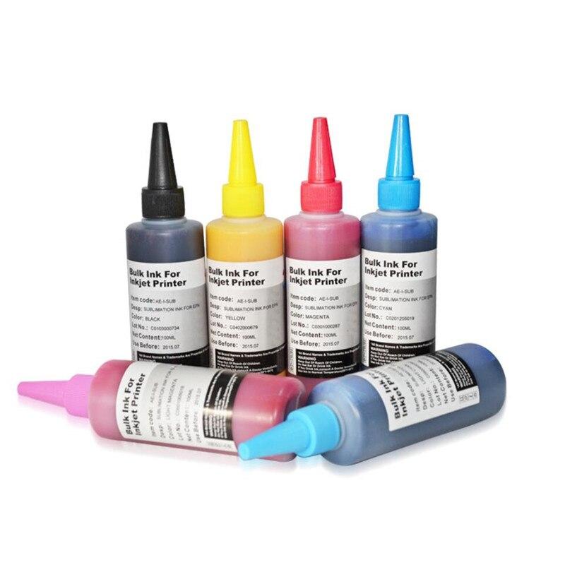 600 ml encre De Sublimation Pour Epson L100 L110 L120 L132 L210 L222 L300 L312 L810 L850 L1800 imprimante d'entrepôt D'encre