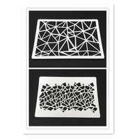 Sfondo di mosaico Stencil per Scrapbook Mestiere Progetti, la fabbricazione Della Carta, Triangolo Geometrica Stencil per spruzzare, Set di 2