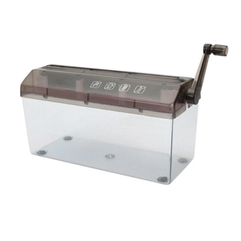 Mini trituradora destructora de documentos de papel máquina de corte trituradora Manual trituradora de papel Manual herramienta de archivo de documentos para la escuela