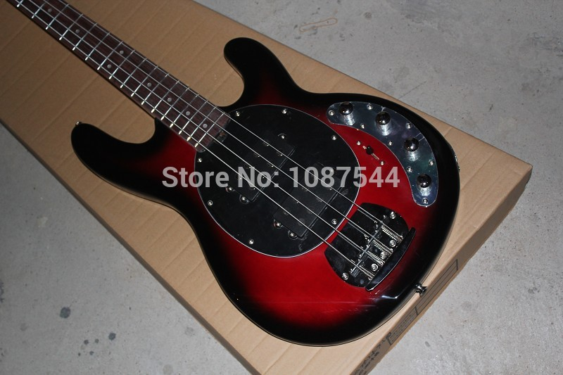 Free shipping High Quality Music Man StingRay 4 wine red Electric Bass with 9V Battery amplifier circuitFree shipping High Quality Music Man StingRay 4 wine red Electric Bass with 9V Battery amplifier circuit