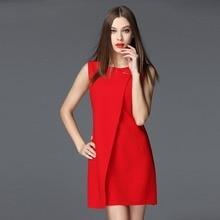 PEGGYNCO summer font b dress b font women sleeveless solid color slim large size font b