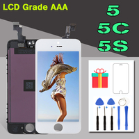 100 Good Quality LCD Replacement For IPhone 5 5G 5C 5S Display With Touch Screen Front