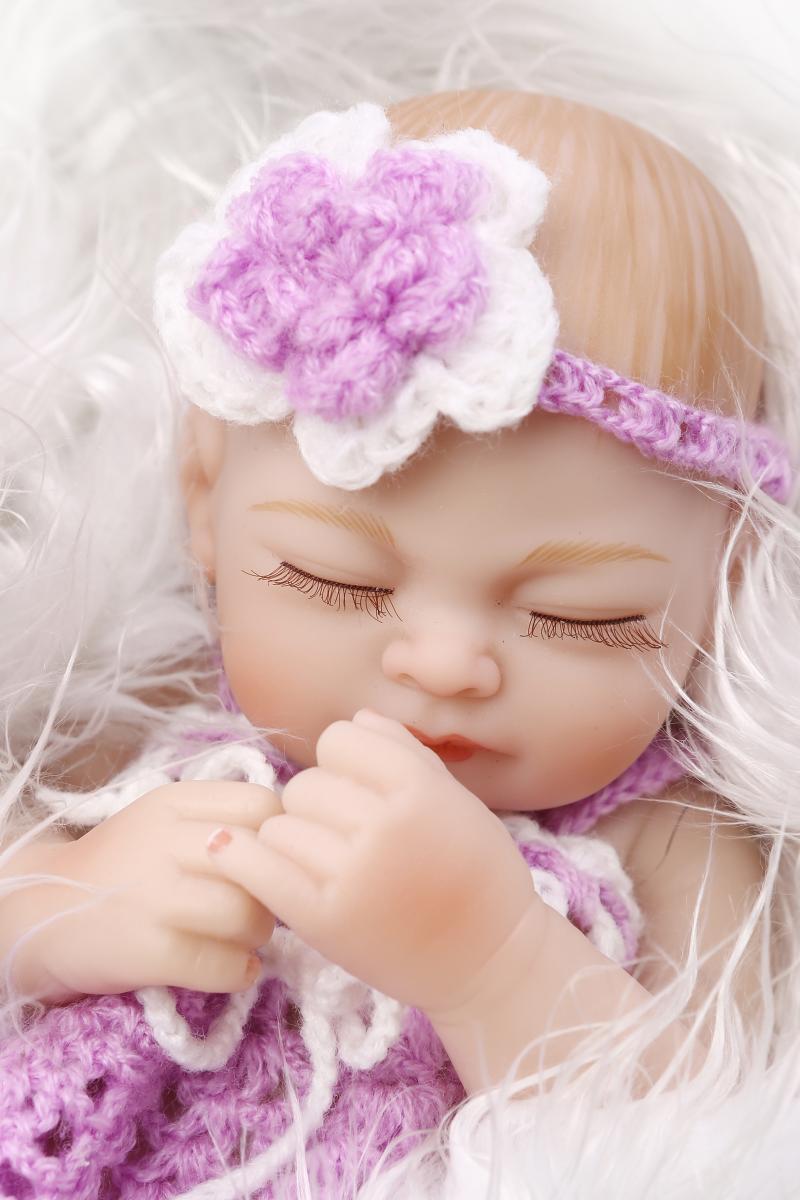 1adbb27f5a1fe US $29.3 50% OFF|25cm Full body silicone reborn baby dolls toy mini newborn  babies birthday present for child bedtime play house bath shower toy-in ...