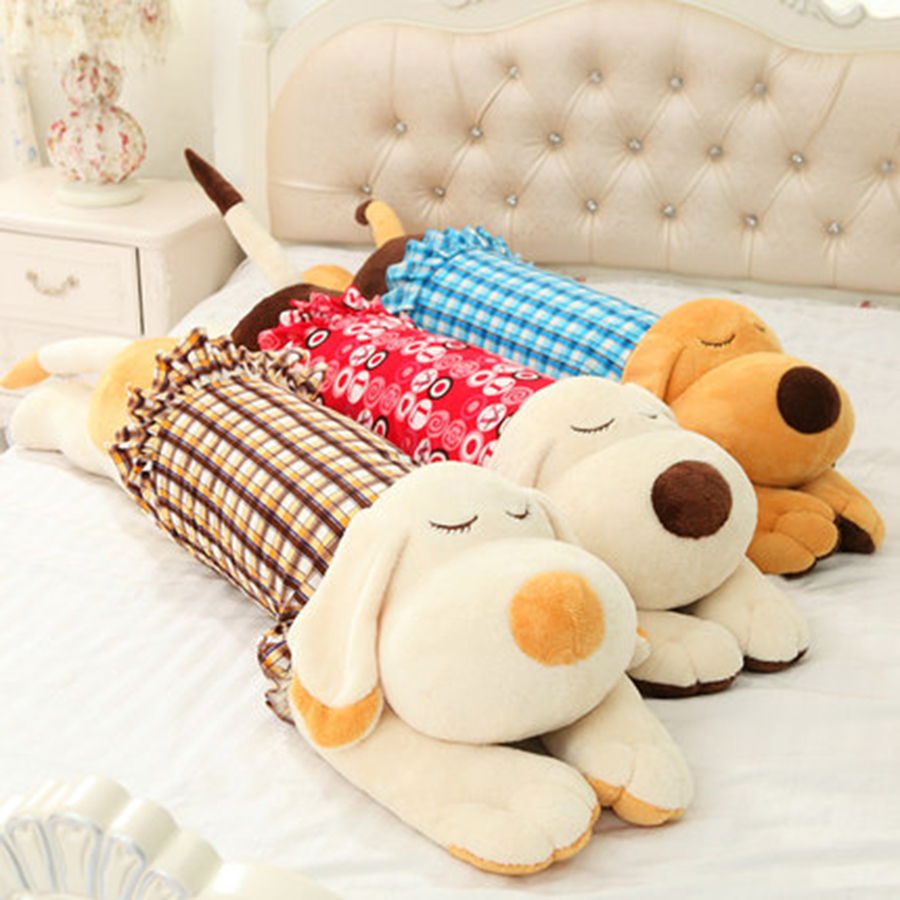 Large Plush Dog Toys For Newborns Birthday Gift Toys Kawaii Pillow Squint Dog Stuffed Big Eyed Lying Plush Pillow 70C0629 cute labrador big plush toy lying dog doll search and rescue stuffed toys children birthday gift pillow