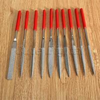 10pcs 5x180mm Jewelers Woodwork Diamond Needle File Set Lapidary Ceramic Tool Sharpening Gringding Carving Cutting Repair