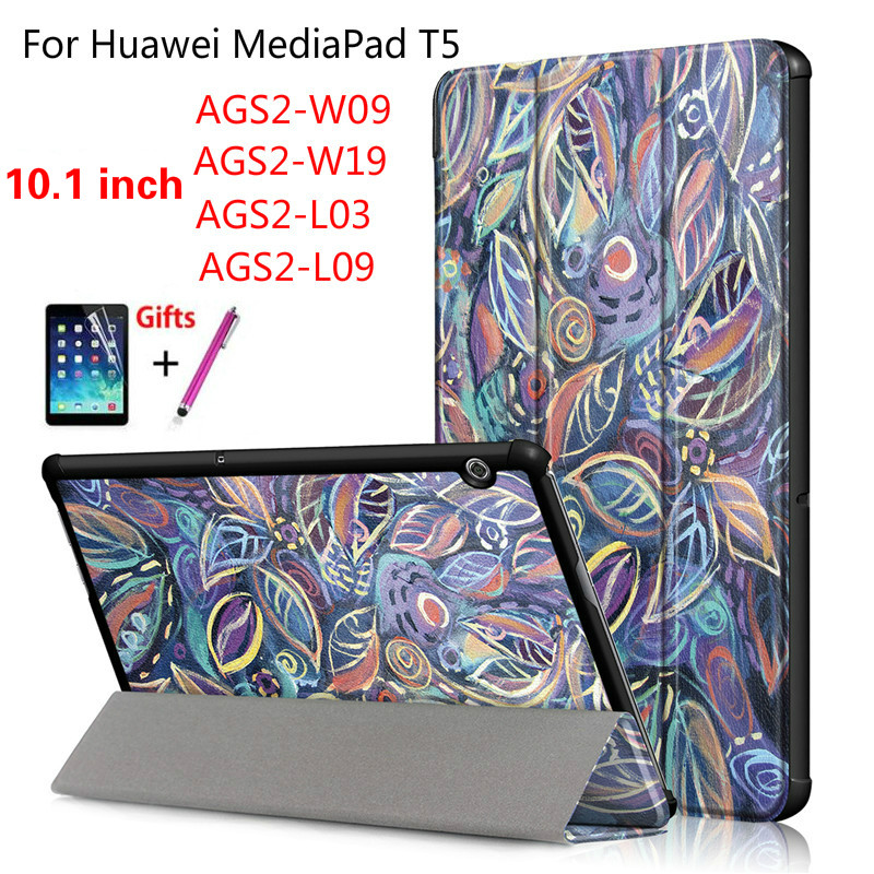 Print Stand Case For Huawei Mediapad T5 AGS2-W09/L09/L03/W19 10.1