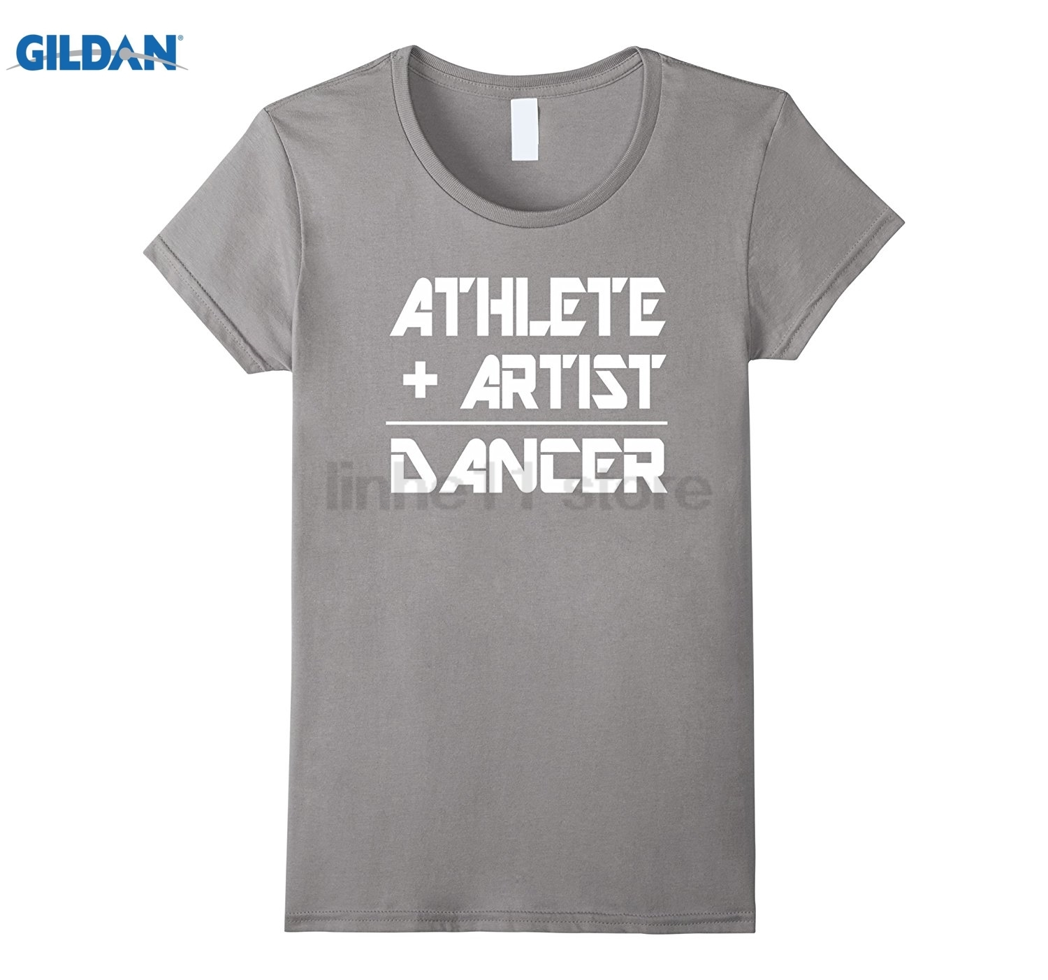 GILDAN Athlete Plus Artist Equals Dancer T-shirt Womens T-shirt