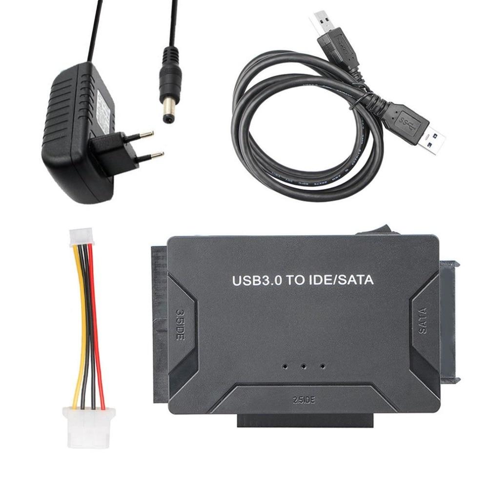 USB 3.0 To IDE/SATA Converter Super 5Gbps Transfer External Hard Drive Adapter Kit Plug & Play Support Up To 4TB Drives usb 3 0 to ide sata converter adapter for 2 5 3 5 hard disks black
