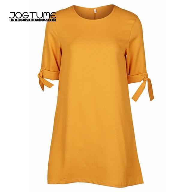 JOGTUME Women Chiffon Dress 2017 Spring Summer Autumn Fashion Casual Mini Dress Beam Sleeve Ladies Vestido De Festa Plus 5XL 6XL