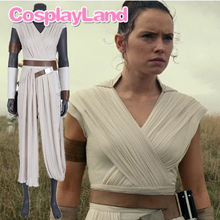 Star Wars 9 The Rise of Skywalker Cosplay Costume Rey Carnival Party Custom Made Suit