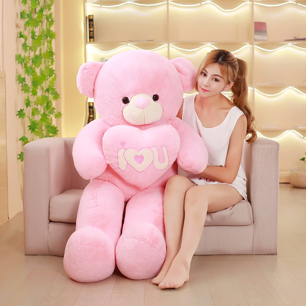 135cm Cute Teddy bear doll bear plush toy Love the Valentine's Day gift stuffed animal 120 cm cute love rabbit plush toy pink or purple floral love rabbit soft doll gift w2226