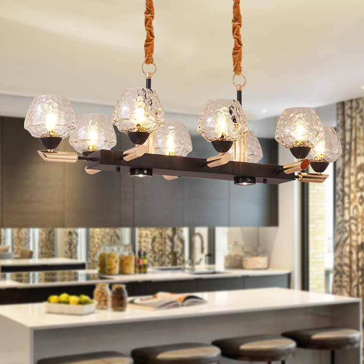 Işıklar ve Aydınlatma'ten Kolye ışıkları'de Modern LED kolye lambaları nordic cam asılı ışıklar yemek odası armatürleri ev deco aydınlatma armatürleri Cafe bar restoran lambası
