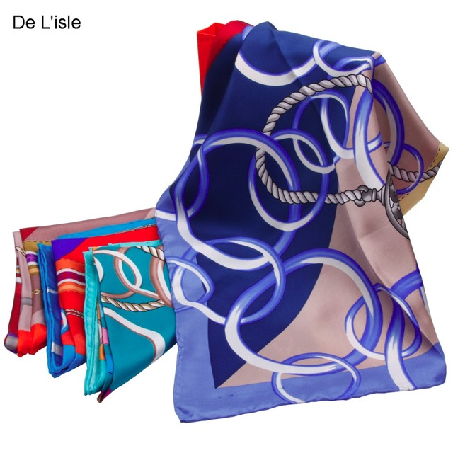 New Arrival Handmade Natural Silk Big Square Scarf Handkerchief Pashmina Women's Shawl Wrap Headband Lace Chain - Factory Outlet