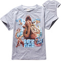 4 pieces/lot Ice Age Cotton Printed Cartoon Animals T Shirts Kids Baby Boys Clothes Children Clothing T-shirts Novelty Tops