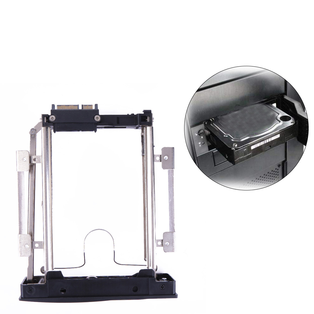 3.5 Security Hard Drive Bracket SATA HDD Storage Mobile Rack Bracket Enclosure Caddy Metal HDD Slot with safety lock 5 25 to 3 5 sata sas hdd hard drive cage adapter tray caddy rack bracket for 3x 5 25 cd rom slot internal or external pc diy
