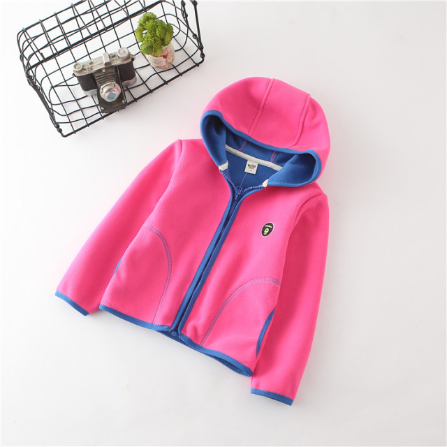 2018 spring autumn fleece children's jackets for girls child hoodies kids cardigan toddler coats for boys baby sweatshirts 2-6T  1