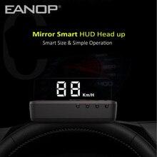 Eanop novo inteligente espelho hud display obd2 calibre brisa velocidade do projetor alarme de sobrevelocidade tensão monitor temperatura da água