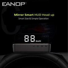 Miroir HUD Display OBD2, pare-brise, projecteur de vitesse, alarme de survitesse, tension, moniteur de température de l'eau
