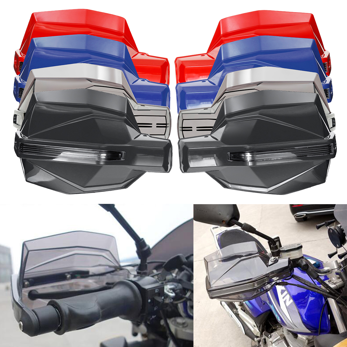 Motorcycle Motocross Enduro Dirt Bike Handguard Brush Shield Windproof Protector Universal Hand guard Motorbike Protective Gear black big size universal 22mm motorbike hand guard dirt pit bike hand protect parts moto falling protection motorcycle handguard