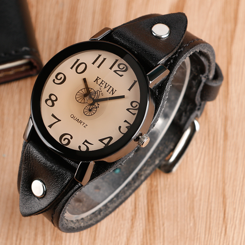 4 Types Leather Rock Punk Watch Women Fashion Simple Quartz Wristwatches Bicycle Pattern Cool Leather Strap Casual Sport Clock mjartoria 2017 men punk skull watch student male cool leather belt sport quartz watch wrist watch quartzwatch punk rock clock