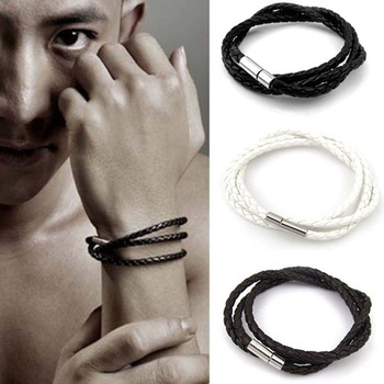 2018 New Fashion Multicolor Men's Multilayer Woven Twist Bracelet Bracelets Bangles Mens Leather Bracelets Jewelry