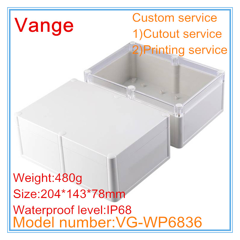 US $10 9 9% OFF|1pcs/lot IP68 waterproof mold making ABS plastic project  box for electronic device custom service available 204*143*78mm-in Wire