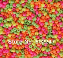 Novos grânulos de semente por atacado colorido contas de semente de vidro preciosa, grânulos de semente de cor de doces