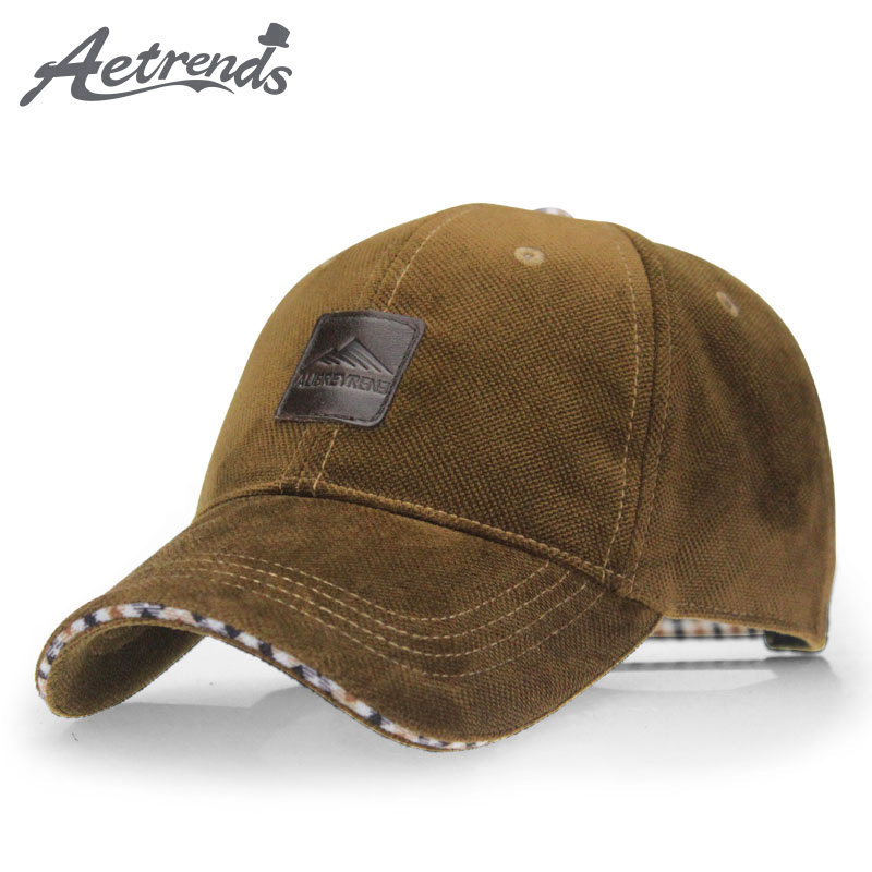 [AETRENDS] 2018 Winter Baseball Cap Fashion Hats for Men casquette  4 Colors for Choice Z-1937