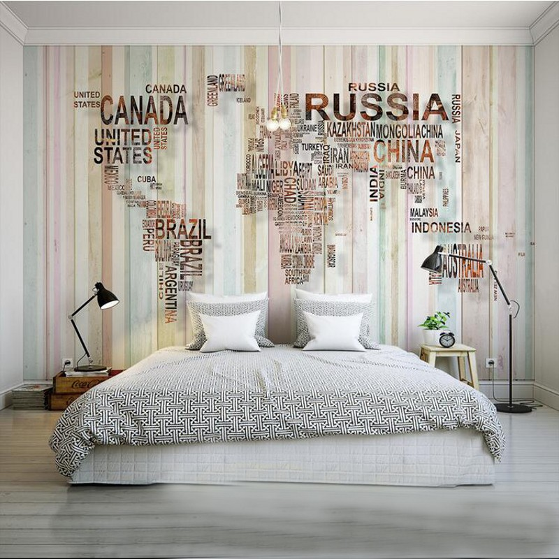 Buy world map wallpaper design and get free shipping on aliexpress gumiabroncs Choice Image