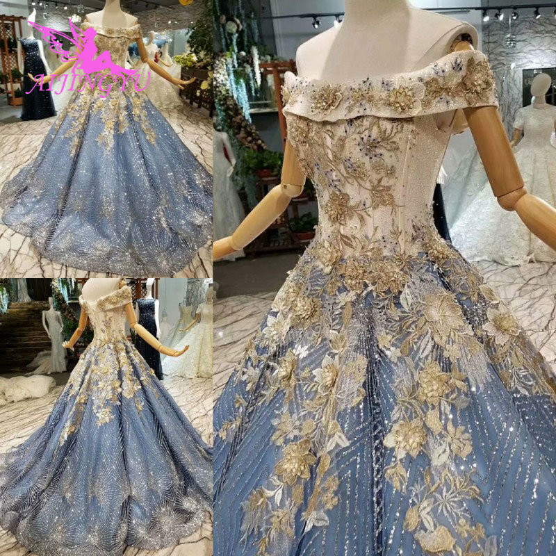 AIJINGYU Wedding Dress Turkey Arabic Gowns 2019 Sexy Newest Cheap Attire Mexican Gown Lace Bridal Dresses For Sale