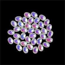 1000pcs/bag Nail Art Crystal Iridescent AB Flat-Back Rhinestone 12 Shape Choice 3D DIY Manicure Decoration