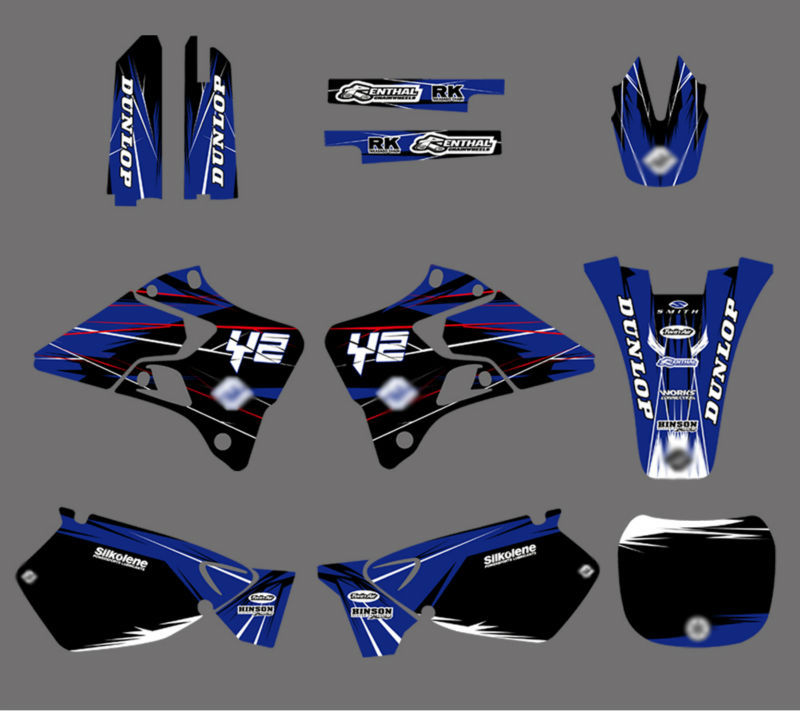 ФОТО 0022 New Style TEAM GRAPHICS&BACKGROUNDS DECALS STICKERS Kits for YZ125 YZ250 1996 1997 1998 1999 2000 2001