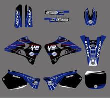 Графические и Фоновые наклейки, наборы наклеек для Yamaha YZ125 YZ250 1996 1997 1998 1999 2000 2001 YZ 125 250