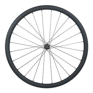 Image 5 - 1240g 30mm boru şeklindeki yol disk karbon tekerlekler düz çekme tekerlek 24mm geniş UD 3K 12K mat parlak QR 12X100 15X100 9mm 135 142