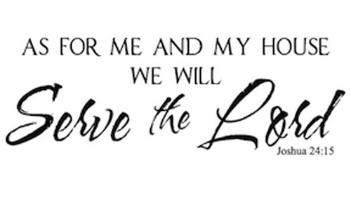 Aliexpress.com : Buy As For Me And My House , We Will Serve The Lord wall  art decals quote home decoration living room decorative stickers from  Reliable ...