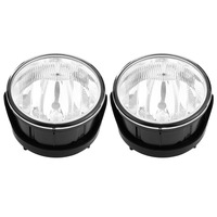 1 Pair of High Brightness Car LED Front Fog Light Round Driving Bumper Lamps&Bulbs for Ford Expedition Ranger