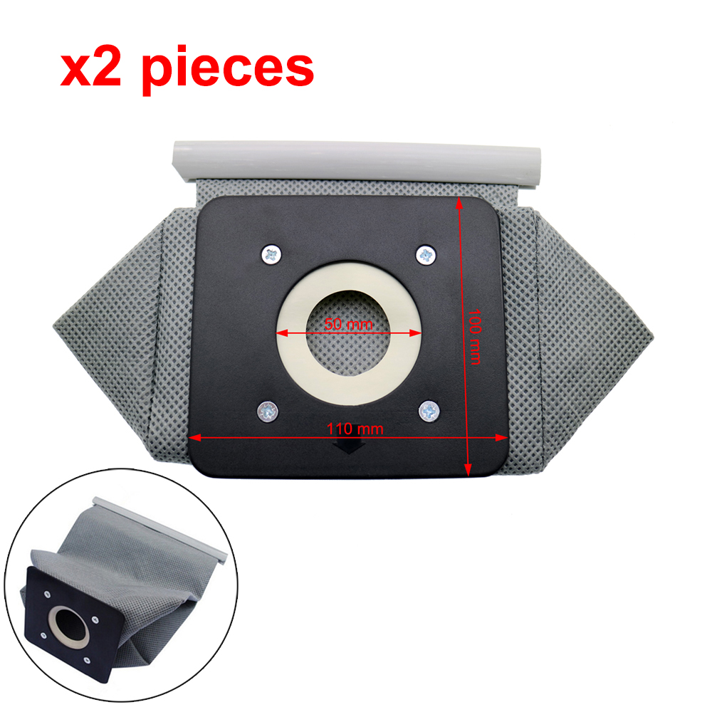 2PC Washable Universal Vacuum Cleaner Cloth Dust Bag For Philips Electrolux LG Haier Samsung Vacuum Cleaner Bag Reusable 11x10cm